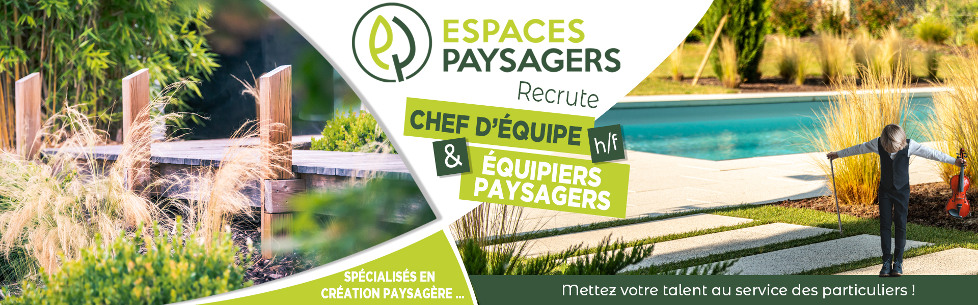 recrutement paysagiste - recrutement espace vert - offre d'emploi paysagiste - offre d'emploi espace vert